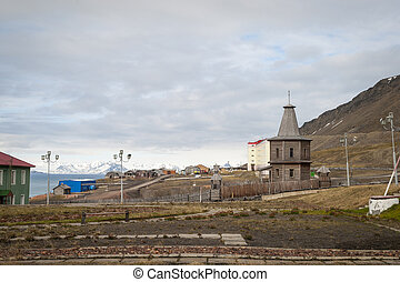 Russian orthodox church in Barentsburg, Svalbard, Norway