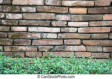 Red brick wall background and textureVintage