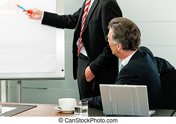 Business - presentation in front of the boss - Business -...