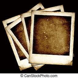 Old Polaroids film for background,2D art