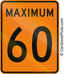 Temporary Maximum Speed 60 Kmh in Canada - Temporary road...