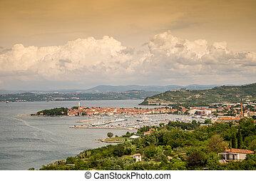 Panorama of beautiful Izola, Slovenia - Panorama of...