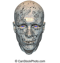 cyber men head with texture