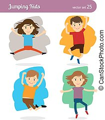 Jumping Kids Characters