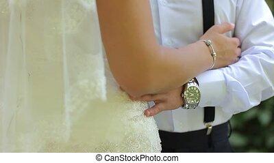 Bride and Groom's hands Wedding