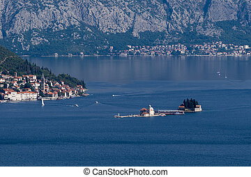 Boka Kotorska, Montenegro - View to the Kotor Bay from the...