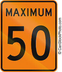 Temporary Maximum Speed 50 Kmh in Canada - Temporary road...