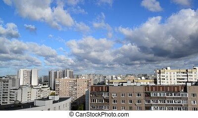 City landscape in Moscow Russia, - City landscape of...