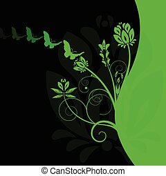 Colourful floral background