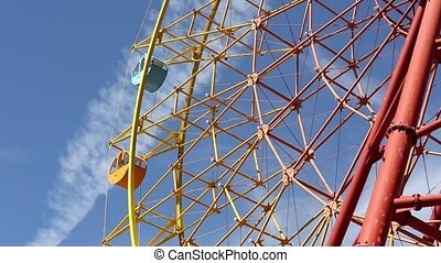 Ferris wheel  - view of a ferris wheel over blue sky