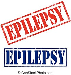 Epilepsy - Set of grunge rubber stamps with text...