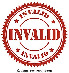 Invalid-stamp - Rubber stamp with text Invalid,vector...