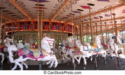 carousel horses - Carousel Merry Go Round Park Attraction