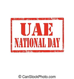 UAE National Day - Red stamp with text UAE National...