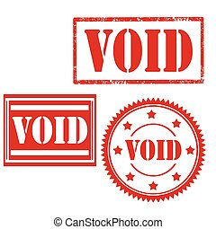 Void-stamps - Set of stamps with text Void,vector...