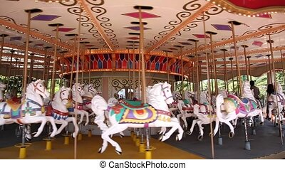 Merry go round - Carousel Merry Go Round Park Attraction
