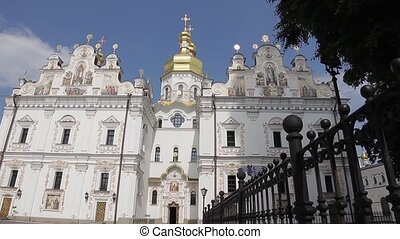 Church with beautiful architecture - Huge church with gold...