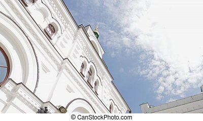 Architecture of the old town - Beautiful Orthodox Church on...