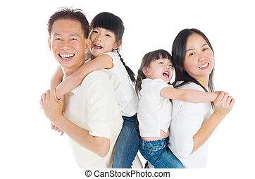 asian family - Indoor portrait of beautiful asian family