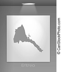 Gallery Illustration with the country shape of Eritrea - A...