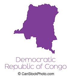 Map of the country of Democratic Republic of Congo - A Map...