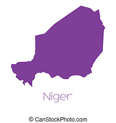 Map of the country of Niger - A Map of the country of Niger