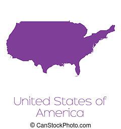 國家, 地圖, 團結, 美國, 國家