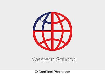 Samoa, dentro, illustrazione, bandiera, Occidentale, mondo,...