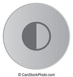 Grey Icon Isolated on a Button with Grey Background -...