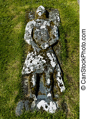 Knight Kilmuir Graveyrad - Kilmuir graveyard with grave of...