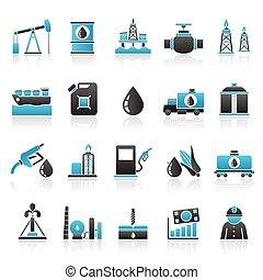 Oil industry icons - Oil industry, Gas production,...