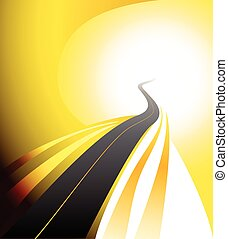 winding road highway background