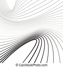 mobious optical art wave background black and white