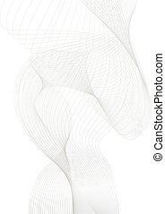curved lines background white and grey