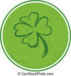 four leaf clover green symbol icon