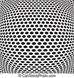 abstract dots optical art op art background