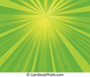 green burst,  starburst rays background vector design