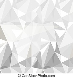 geometric triangle pattern background grey white vector