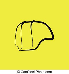 safety hat hard hat yellow background vector