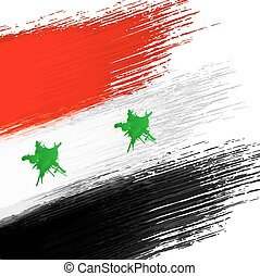 Syrian flag grunge background