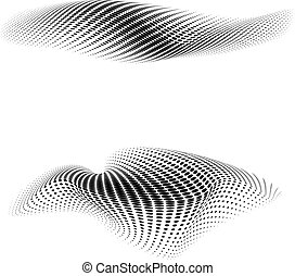 dotted background morphing vector design