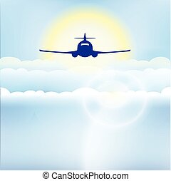 airplane in the sky  illustration