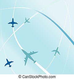 clean air travel background design