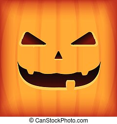 Halloween Greeting Card Design template with orange pumpkin...