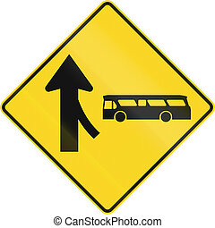 Merge With Bus From Right Ahead In Canada