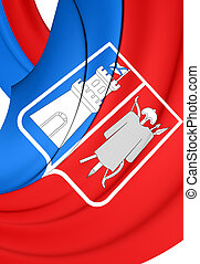 Flag of Rostov-on-Don, Russia - 3D Flag of Rostov-on-Don,...