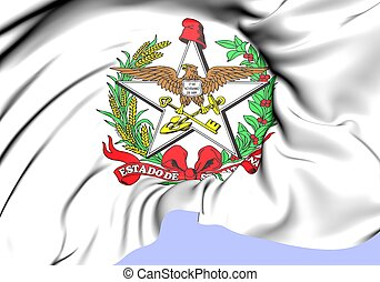 Santa Catarina Coat of Arms, Brazil. Close Up.