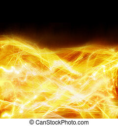 abstract fire background - abstract fire border on black...