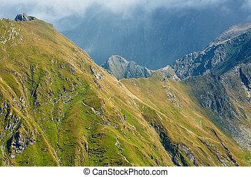 High mountains - Landscape with high mountains in the summer