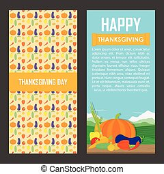 Vector set of  Thanksgiving Day backgrounds.